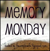 Memory monday button