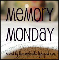 Memory monday button