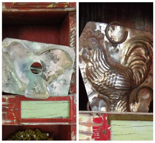 Rooster candy mold and cookie cutter