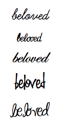 Beloved tattoo font