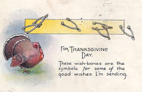 Thanksgiving wishbones