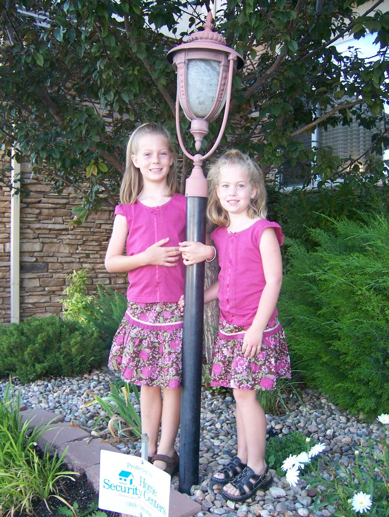 Here are my sweet little girls, all ready for the first day of school ...